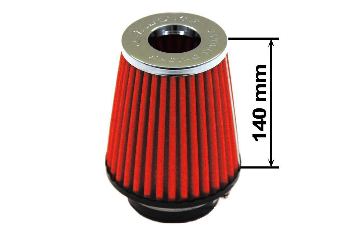 Filtr stożkowy SIMOTA JAU-X12109-05 60-77mm Red - GRUBYGARAGE - Sklep Tuningowy
